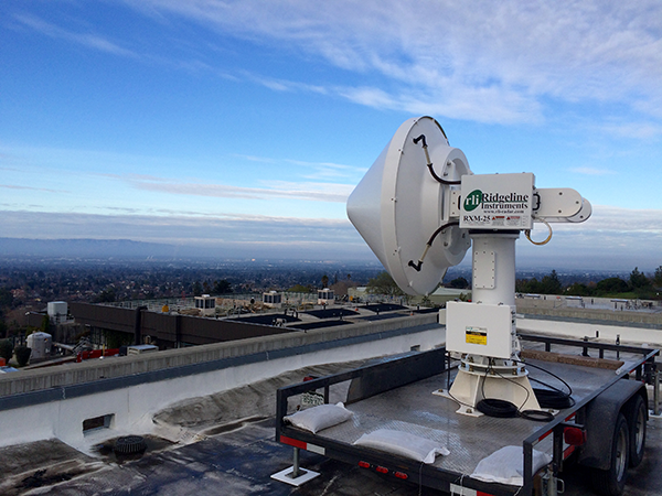 The X-band radar in San Francisco. (Credit: Francesc Junyent, CSU/CIRA)