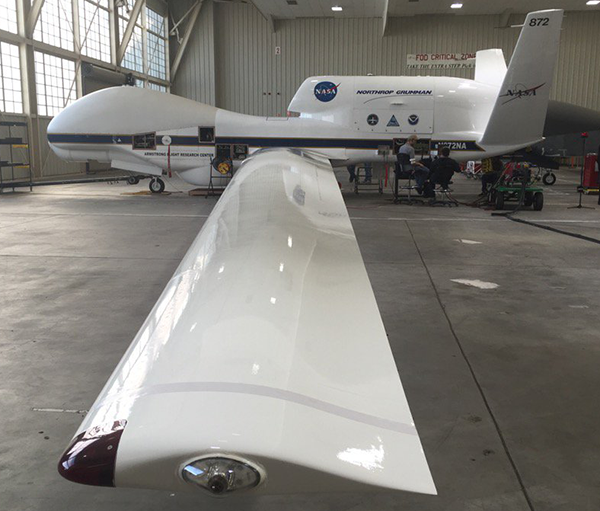 The NASA Global Hawk at Edwards Air Force Base. (Credit: Gijs de Boer, CIRES)